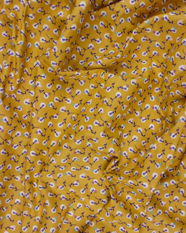 Popeline de Coton - Lilipan Ocre - Tissushop