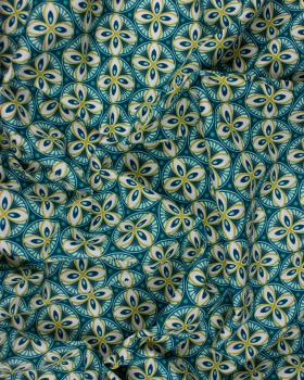 Popeline de Coton - Livy Bleu Canard - Tissushop