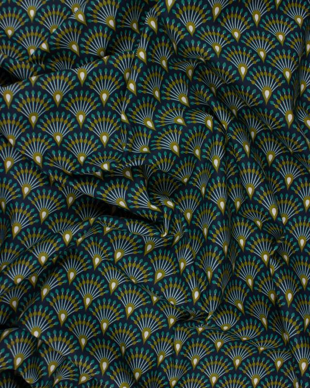 Popeline de Coton - Ginza Bleu Canard - Tissushop