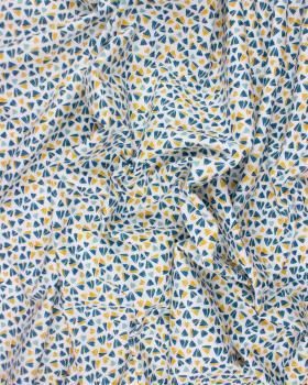 Cotton Popelin - Zanteme Dark Cyan - Tissushop