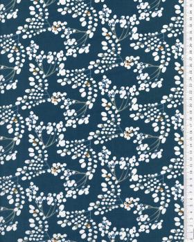 Popeline de Coton - Yoichi Bleu Canard - Tissushop