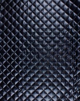Tissu matelassé metallique Noir - Tissushop