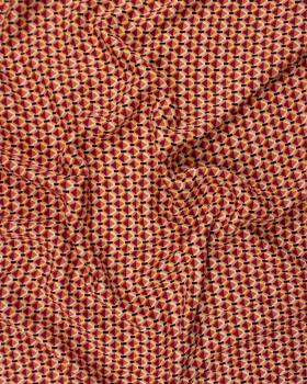 Viscose losange bicolore Piment - Tissushop