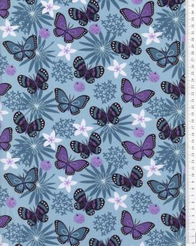 Butterfly Jersey Blue - Tissushop