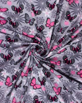 Jersey papillon Gris - Tissushop