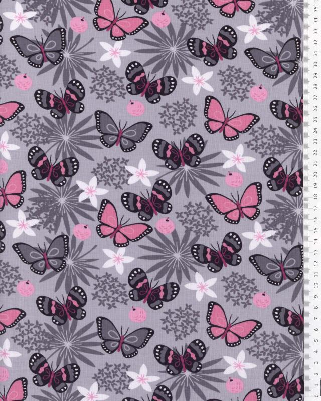 Butterfly Jersey Grey - Tissushop
