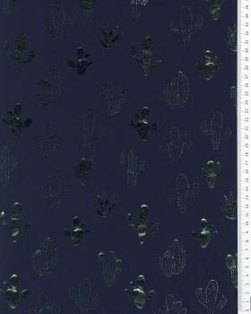 Cactus holographic Jersey Navy Blue - Tissushop