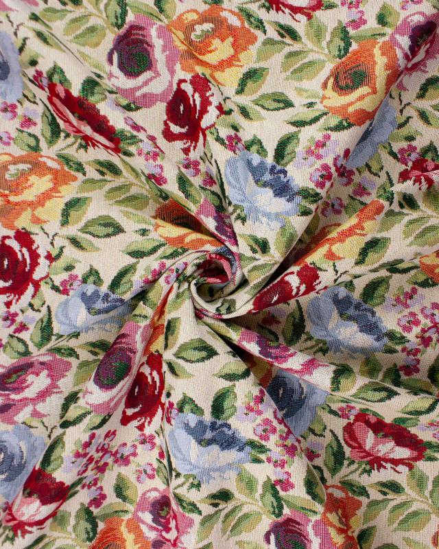 Jacquard home decor Fabric large width - Flowers - Tissushop