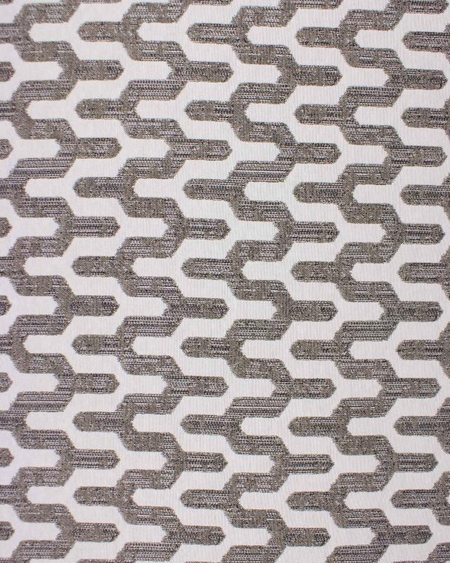 Jacquard home decor Fabric large width - Victor Taupe - Tissushop