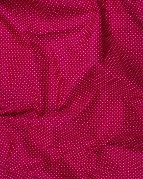 Cotton Popelin mini dot on a background Bordeaux - Tissushop