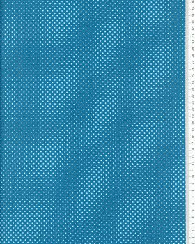 Cotton Popelin mini dot on a background Turquoise Blue - Tissushop