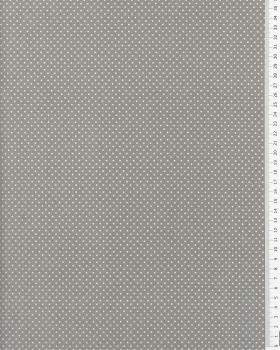 Cotton Popelin mini dot on a background Light Grey - Tissushop